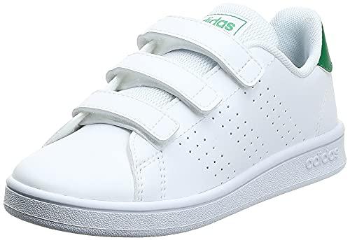 adidas Advantage C, Zapatillas de Tenis Unisex niños, Multicolor Ftwbla Verde Gridos 000, 34 EU