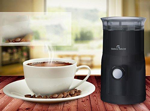 NANXCYR elektrische koffiemolen voor koffiezetapparaat - Grind espresso Bean, sleutels & spices met krachtige 180-watt-motor en roestvrijstalen messen - zwart