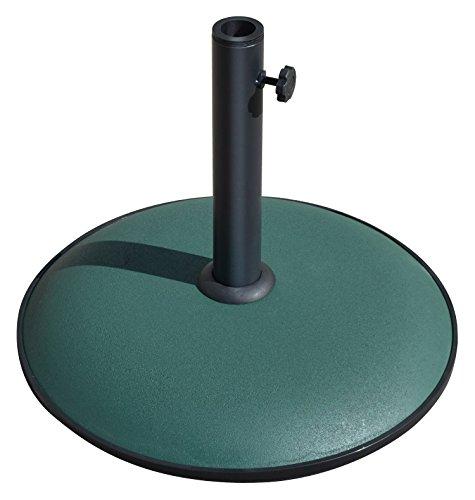 BenefitUSA Zement-Regenschirmständer Terrassen-Regenschirm Betonsockel Garten Deck Sonnenschirm Gewicht