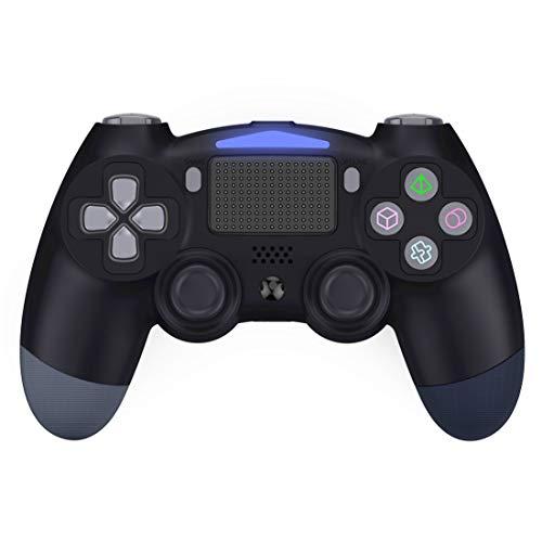 Bluetooth Wireless Controller für PS4, Pro Game Controller Gamepad Joypad Joystick Kompatibel, Gamepad für PlayStation 4/PS4 Slim/Pro/PS3/PC, Touchpanel-Gamepad mit Dual Vibration Shock