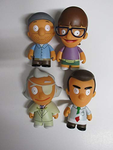 Kidrobot Bob's Burgers VInyl Figure Lot of 4 Teddy Gayle Fischoeder Jimmy Petso