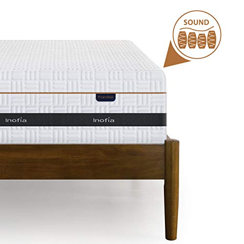 Inofia Double Mattress, Memory Foam and Spring Round Top Mattress,7-zone...