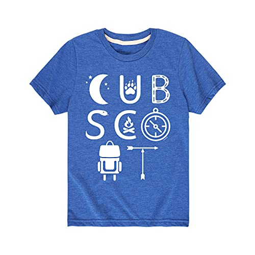 Boy Scouts of America Cub Scout Icons - Toddler Short Sleeve T-Shirt Royal Blue