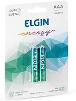 Kit Pilhas Alcalinas com 2X AAA Palito, Elgin, Baterias