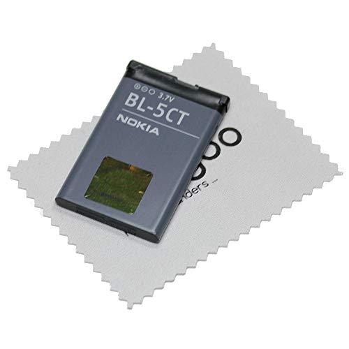 Batteria originale Nokia BL-5CT per 5220 5630 6303 6730 3720 C3-01 C5-00 C6-01 + panno per la pulizia dello schermo Mungoo