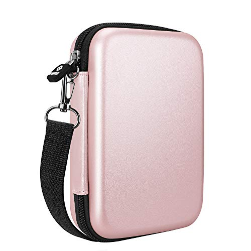 Fintie Funda para HP Sprocket Select/HP Sprocket Plus, Fujifilm Instax Mini Link Impresora Fotográfica - Bolsa Dura Antichoque con Bolsillo Interno, Oro Rosa
