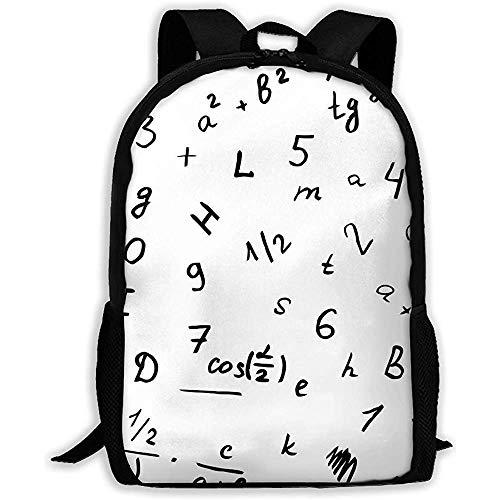 Wobuzhidaoshamingzi schoolrugzak, brief tekening op een tafel, bookbag, casual reistas voor volwassenen