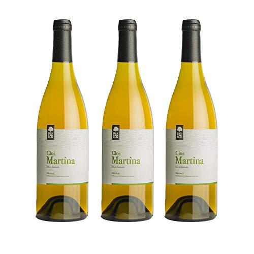 Vino Blanco Clos Martina 2015 - DOQ Priorat - Pack vino 3 botellas - Crianza 6 meses - Selección Vins&Co - 750 ml