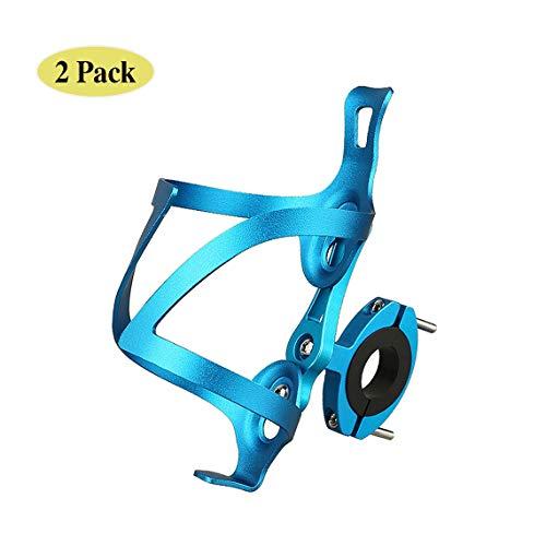 LOOZY Fahrrad Flaschenhalter Trinkflaschenhalter Fahrrad Sicheres Rückhaltesystem,Leichter Und Starker Robuster Aluminium,aluminiumlegierung Mountainbikes, Und Rollstuhl (Color : Blau)
