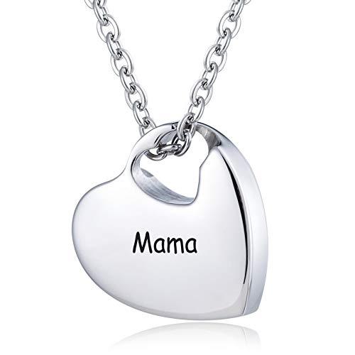 Daesar Colgante Cenizas Acero Inoxidable Colgantes para Cenizas Hombre Grabado Mama Collar Grabado Personalizado