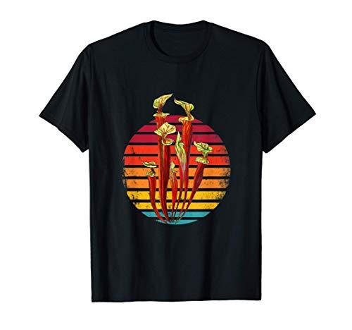 Retro Vintage Sunset Sarracenia Carnivorous Plants T-Shirt