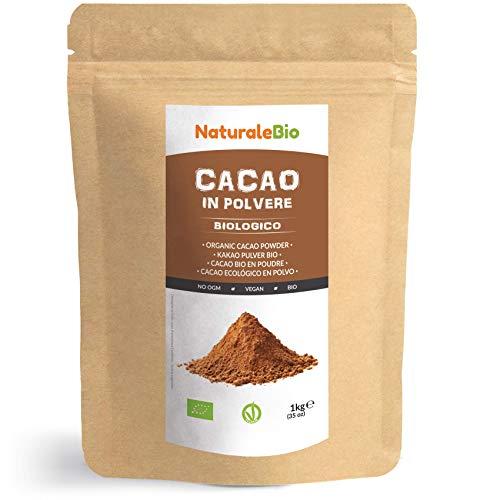 Kakao Pulver Bio 1 Kg. Organic Cacao Powder. 100{7a414eb64c7865ecb2e4219da04be05b074669e66a8a97c27a75ea09bed0df38} Natürlich, Rein aus de Roh Kakaobohnen. Produziert in Peru aus der Theobroma Cocoa Pflanze. Magnesium, Phosphor und Zink-Quelle. NaturaleBio