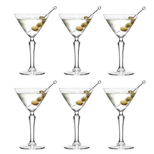 Copa de cóctel SPKSY Martini de Libbey – 190 ml / 19 cl - 6 unidades – Resistente al lavavajillas - Excelente para una fiesta de cóctel en casa