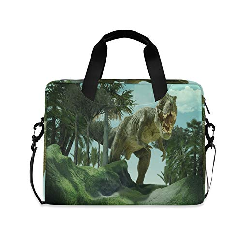 Computer Carrying Case for Adult Kids Laptop Bag Dinosaur Computer Bags 13-15.6 inch Laptop Sleeve Case Laptop Shoulder Bag Laptop Carrying Bag with Strap Handle
