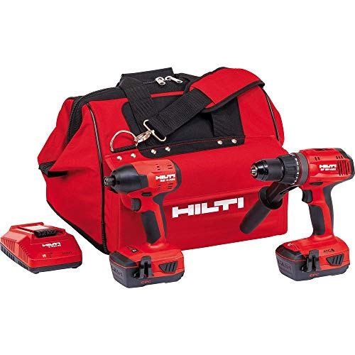 Hilti 22-Volt Lithium-Ion Keyless Chuck Cordless Hammer Drill Driver/Brushless Impact Driver Combo Kit (batteries included)