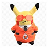ZJSXIA Pokemon Pikachu Cosplay Team Plush Toys Cute Stuffed Dolls 8' 20 cm Pillow Can Hug The Best Birthday Gift for Kids Pikachu Toy