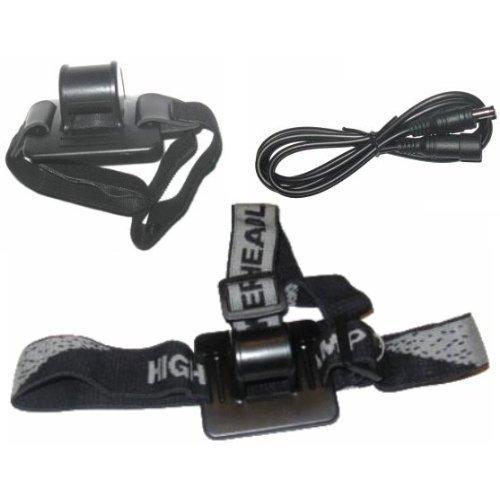 Zubehörpaket (Helmhalterung, Stirnlampenhalterung, Verlängerungskabel) für Magicshine.eu MJ-808, MJ-816, bikelight.eu 900, 1000 u.a.
