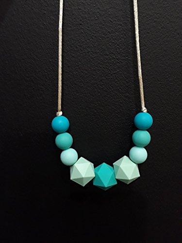 Collier de Portage et d'allaitement, anneau de dentition Camaieu de vert
