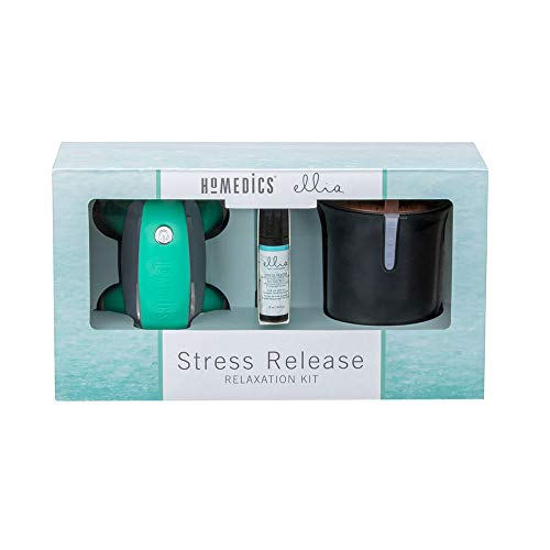 HoMedics Homedics & Ellia Stress Release Wellness kit, Relaxing Aromatherapy and Massage on The go