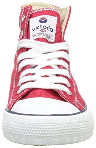 victoria Plano VICTORIA Tribu Botin Lona 106500-WOMEN para Mujer Rojo 40