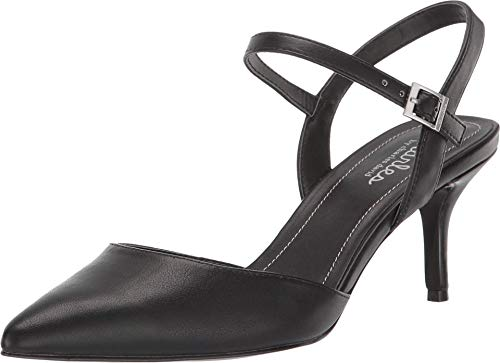 Charles by Charles David Ailey Black Ankle Buckle Classic Pointed Toe Pump (8.5)