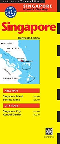 Singapore Travel Map: Singapore Island & City Map