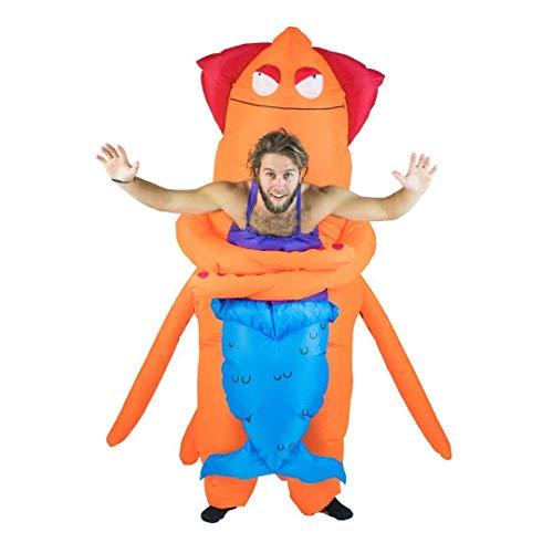 Bodysocks Fancy Dress Aufblasbares Huckeback Riese Tintenfisch Seeungeheuer Monster Kostüm