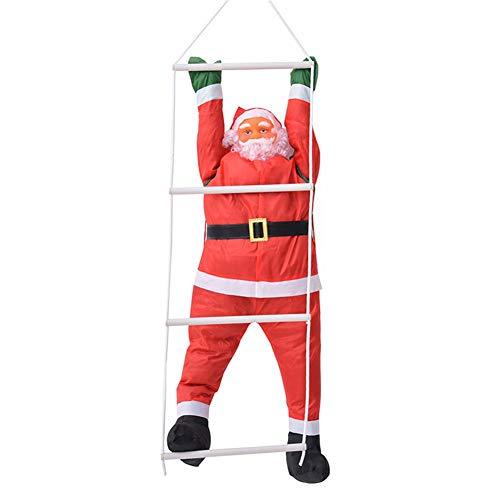 circulor Weihnachtsmann-Puppe, 60 cm Kletterseil Leiter Weihnachtsmann Weihnachtsschmuck Weihnachtsmann Puppe Puppe Anhänger