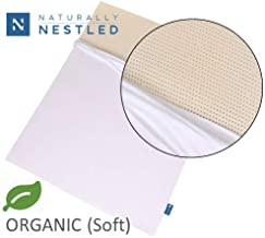 Certified Organic 100% Natural Latex Mattress Topper - Soft - 2 Inch - Queen Size - Organic Cover Included.