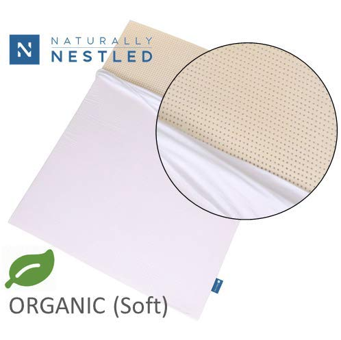 Certified Organic 100% Natural Latex Mattress Topper - Soft - 2 Inch - Queen Size - Organic Cover...