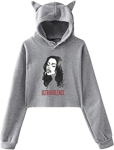 Rjsgdfjhs Lana Del Rey Hipster Cat Ear Hoodie Sweater,M