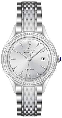 Eterna Lady Damen Uhr analog Automatik mit Edelstahl Armband 2956.50.13.1742