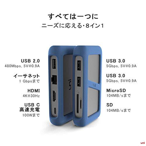 41Y3EXdHy4L-「uni USB Type-C HUB 8ポート」を購入したのでレビュー!Chromebookにちょうど良いUSB-Cハブ