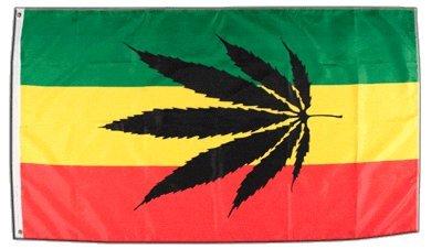 Flagge Cannabis Reggae - 90 x 150 cm