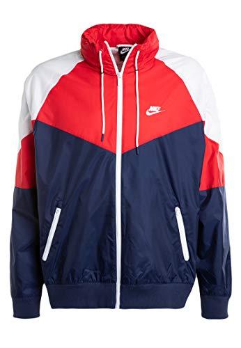 Nike Herren Sportswear Windrunner Weste, Mitternacht-Marineblau/Universitä-rot/Weiß, XS