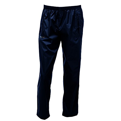 Regatta Waterproof - Pantalones para hombre, negro, XL