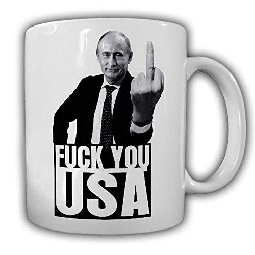 Tasse Wladimir Putin - Fuck you USA Fun Russland Moskau Russia UDSSR CCCP #25041