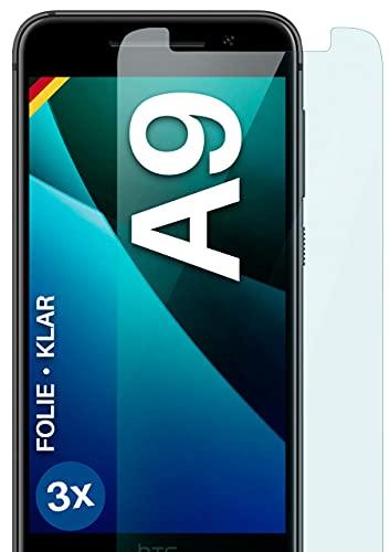 moex [3 Stück] Schutzfolie kompatibel mit HTC One A9 Bildschirmfolie Hüllen-Fre&lich, 0.2 mm dünne Bildschirmschutzfolie, Display Schutz extra Kratzfest - HD Ultra-Klar