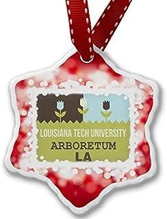 VinMea Christmas Ornament US Gardens Louisiana Tech University Arboretum - LA, red Xmas Decorative Hanging Ornament