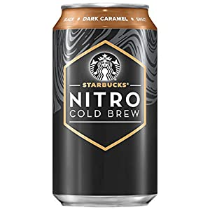 Starbucks Nitro Cold Brew, Dark Caramel, 9.6 Fl oz Can (8 Pack)