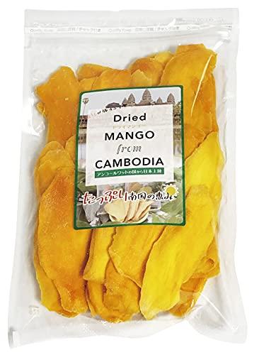 ドライマンゴー カンボジア産 スライスカット 砂糖使用量を低減した低糖加工 着色料・香料不使用 おかえりマンゴー ケオロミート種 KIRIROM キリロム (400g×1袋)