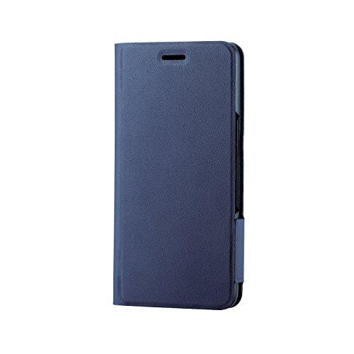 エレコム Android One S4 ケース Ymobile 手帳型 レザー ウルトラスリム サイドマグネット 【カード収納ポケット付き】 ネイビー PY-AOS4PLFUNV