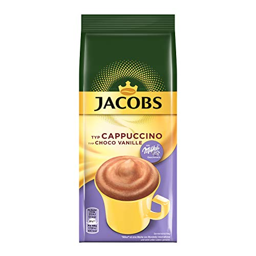 Jacobs Cappuccino Choco Vanille, 500 g Kaffeespezialität Nachfüllbeutel