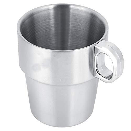Tazas de agua, tazas de acero inoxidable redondas duraderas pequeñas con portavasos para el hogar