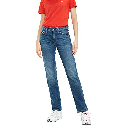 Tommy Jeans Mujer MID RISE STRAIGHT TJ 1985 UTHM Straight Jeans, Azul (Utah Mid Bl Com 911), W29/L32