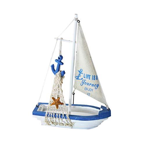 SUPVOX Velero Modelo Adorno Modelo de Barco de Vela casa Oficina Escritorio decoración Adornos (Ancla de velero)