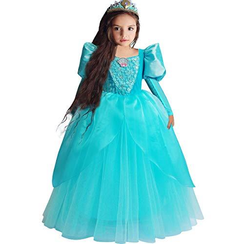 Little Mermaid Ariel Princess Dress Cinderella...