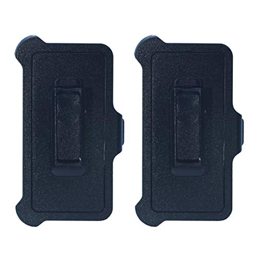 Hand-e Replacement Belt Clip Holster | Perfectly Works with Otterbox Defender Series Case | for iPhone 8 Plus/iPhone 7 Plus/iPhone 6s Plus/iPhone 6 Plus (5.5') - 2 Pack