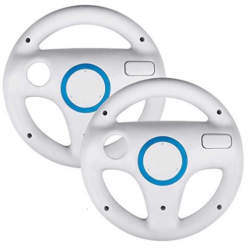 NorCWulT Lot de 2 Combinaisons de Volants pour Mario Kart Wii, Combinaison pour Mario Kart Racing Wheel Fit pour Nintendo Wii (Blanc)