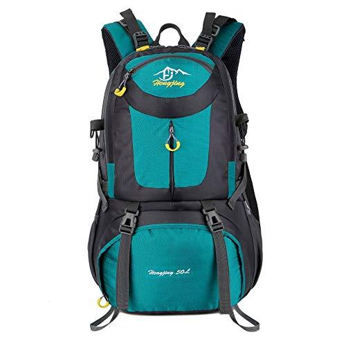 QXbecky Alpinisme sac à dos hommes et femmes en plein air voyage imperméable respirant porter grande capacité sport sac à dos de randonnée 40L 50L 60L vert 60x35x20cm